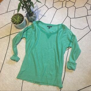 American Eagle Oversized Soft Teal Sweater